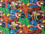 NEW! AVENGERS HULK IRON MAN CAPTAIN AMERICA THOR SPIDERMAN MARVEL- Fabric - Price Per Metre
